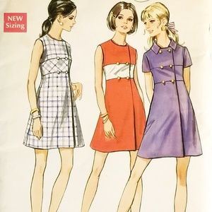 Vtg 60s Dress Sewing Pattern